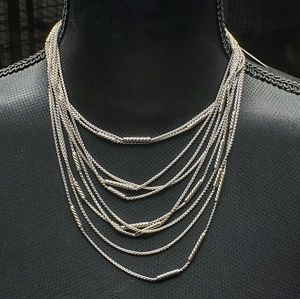 "David Yurman 5 Row ""Willow"" Chain Sterling Silver"